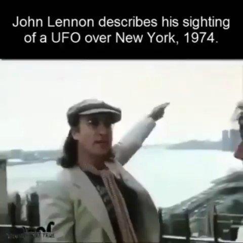 John Lennon describes a UFO sighting in New York, 1974