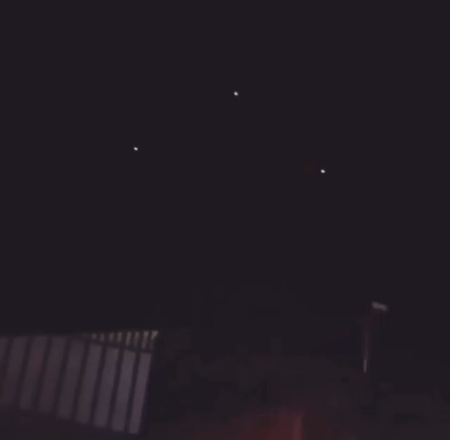 Santa Cruz, Bolivia 🇧🇴 December 26, 2019 … . Triangular formation of lights flying overhead slowly and quietly. At first we thought it might be a TR3B but as it goes further they seem to begin to change position… what do you think? . . SRC: @dailydoseufo . .