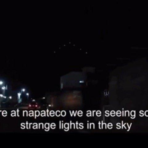 UFO Fleet filmed over Hidalgo, Mexico – credit to Hector Jaime Fernandez Licona