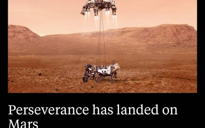 Touchdown, Mars! Perseverance is on the red planet and is sending back footage. 🥳