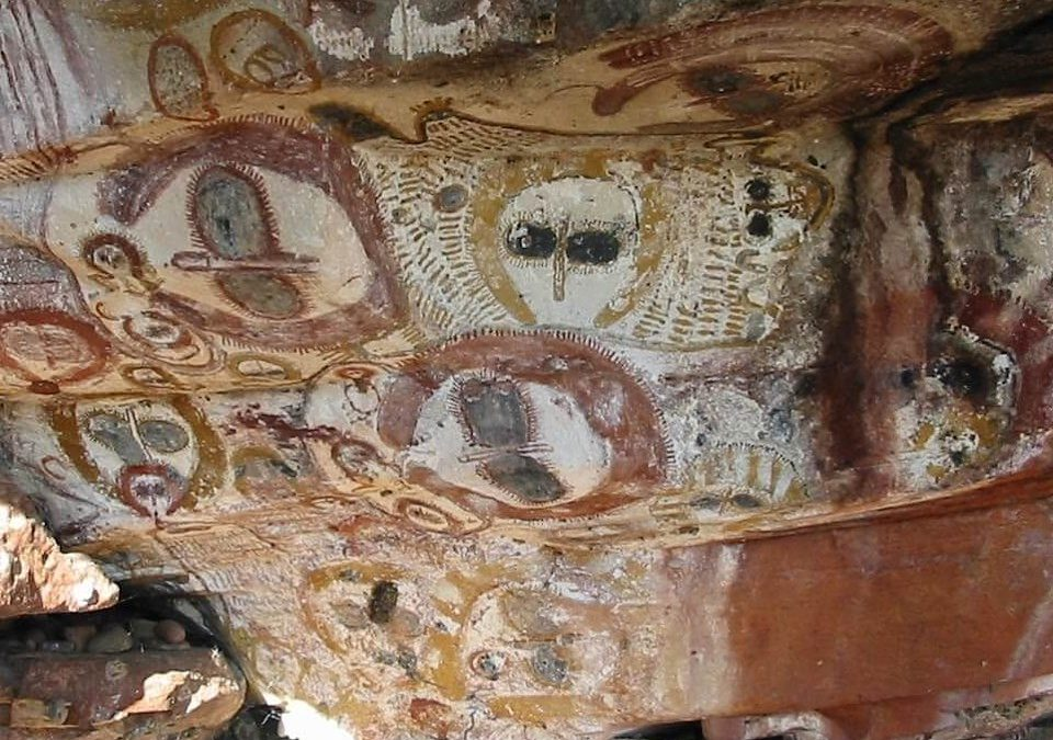 5000 year old paintings of grey aliens…I'll just leave this here. The Facts:5000 year old cave art from Australia depicts strange beings that resemble what many perceive to represent the modern day 'Gray Alien.' These beings were known as #Wandjina, cloud spirits and sky beings. source: @collective_evolution