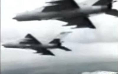 Russian UFO Fighter Pilot picks up UFO on video during chase