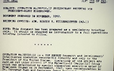 Majestic-12 was a government agency tasked with investigating UFOs, crashes, and much more. Look at the date on Truman's executive order predating this brief for Eisenhower – Sept 1947.  That's how long they've been keeping these UFO secrets from the public. Over 70 years!